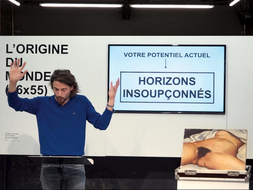 «L'ORIGINE DU MONDE (46×55)», ENTRE LE HEROS ET LA REUNIONTUPPERWARE
